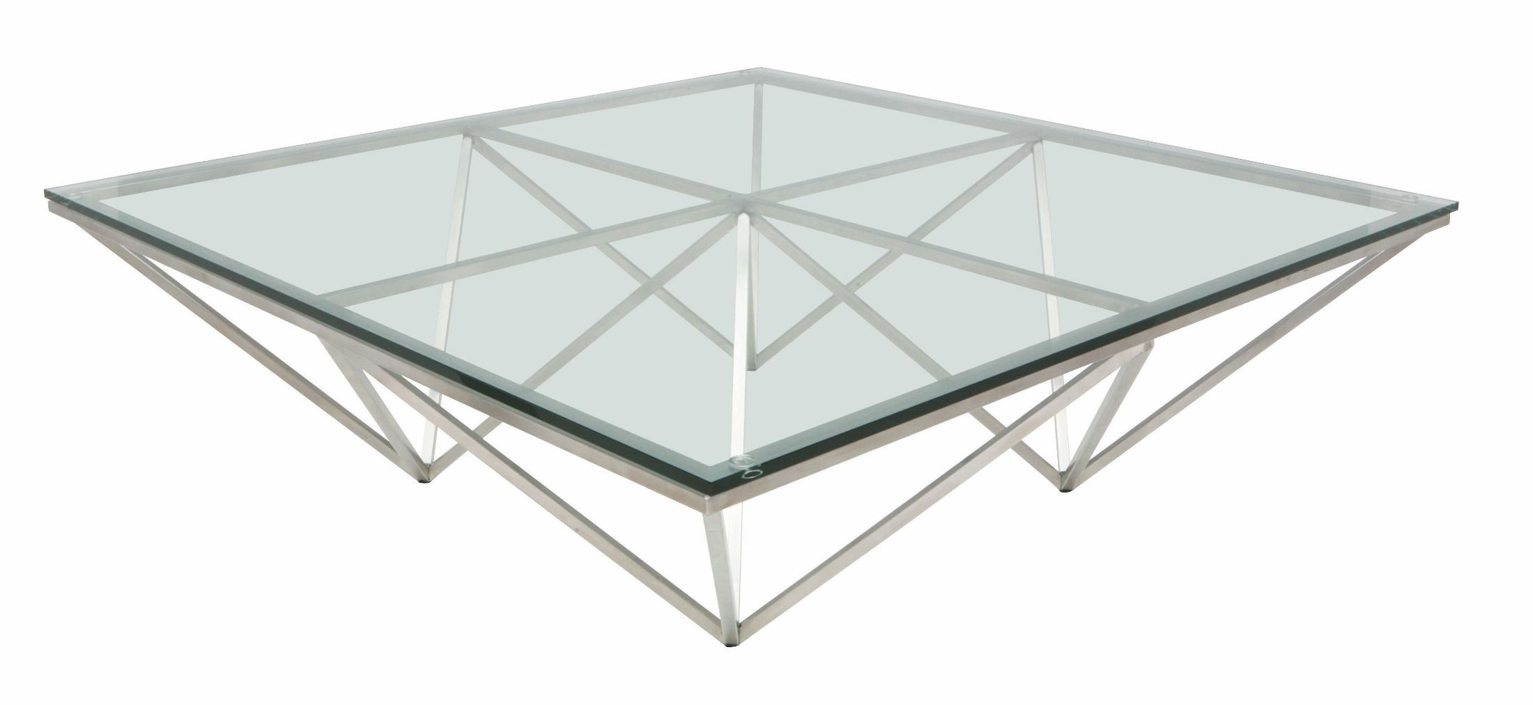 Origami Clear Glass Coffee Table From Nuevo Coleman Furniture
