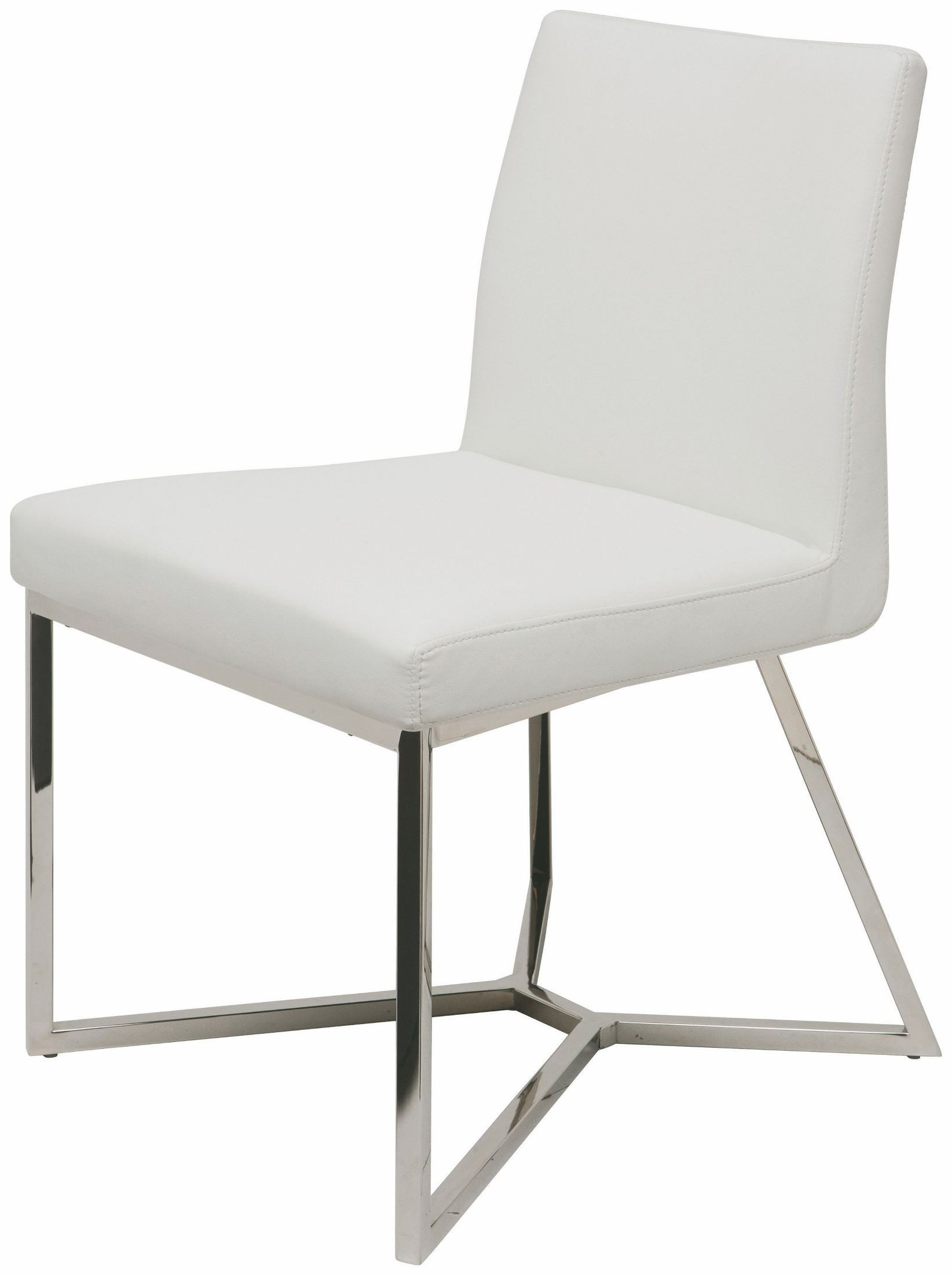 Patrice White Naugahyde Dining Chair From Nuevo Coleman Furniture