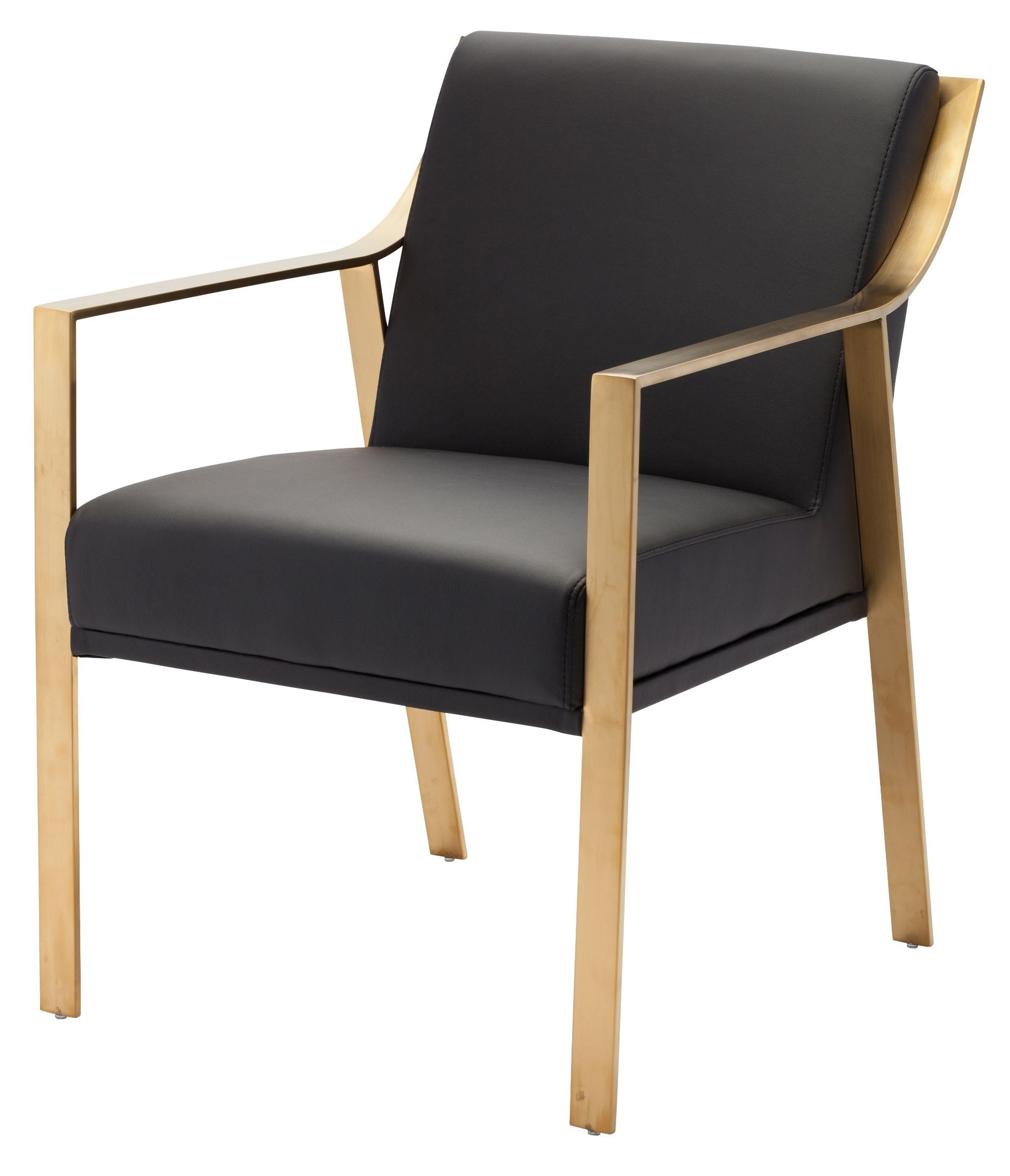 Valentine Black Naugahyde and Gold Metal Dining Chair from  : hgtb321hr from colemanfurniture.com size 1889 x 2200 jpeg 270kB