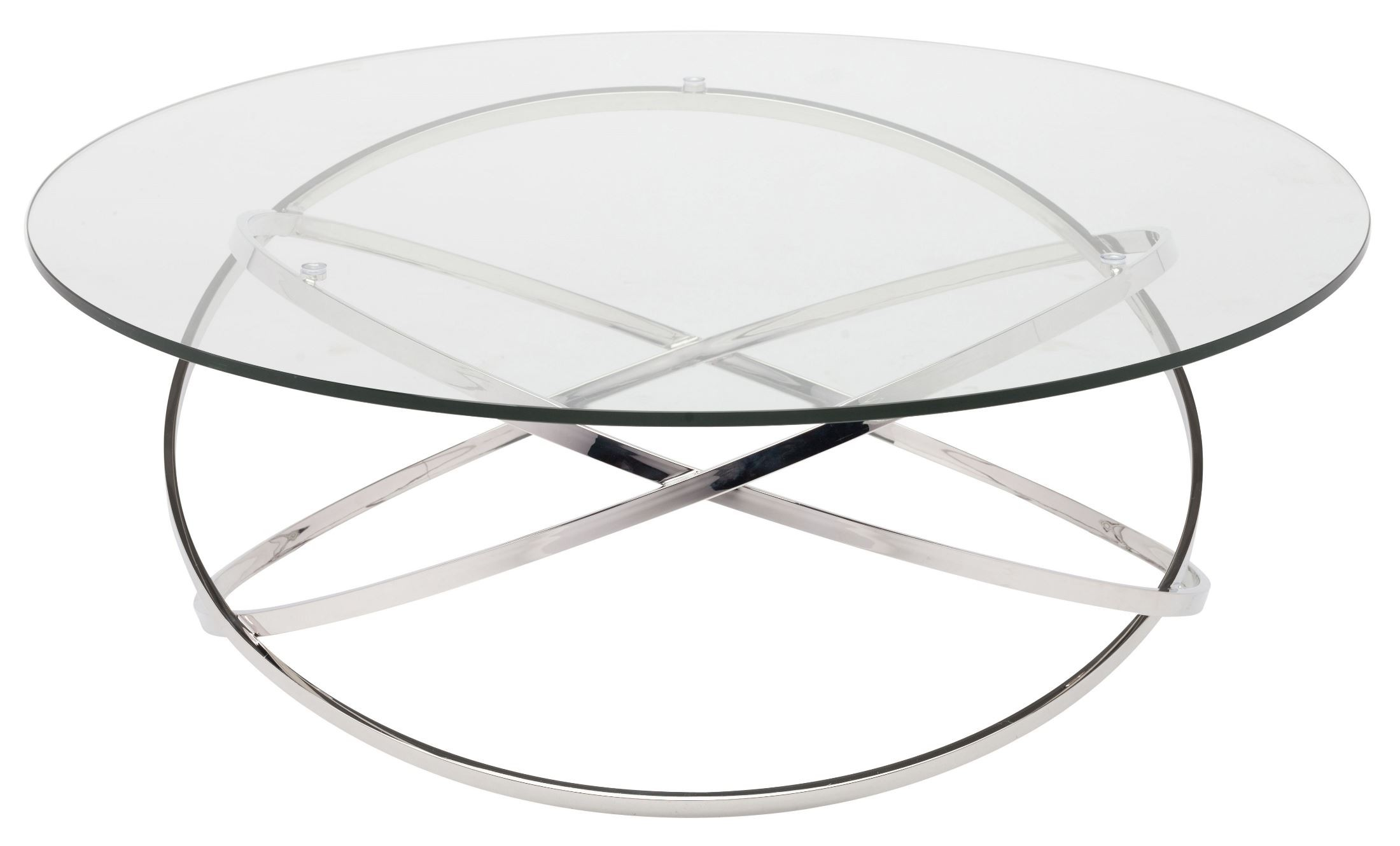 corel silver clear glass coffee table from nuevo coleman furniture. Black Bedroom Furniture Sets. Home Design Ideas