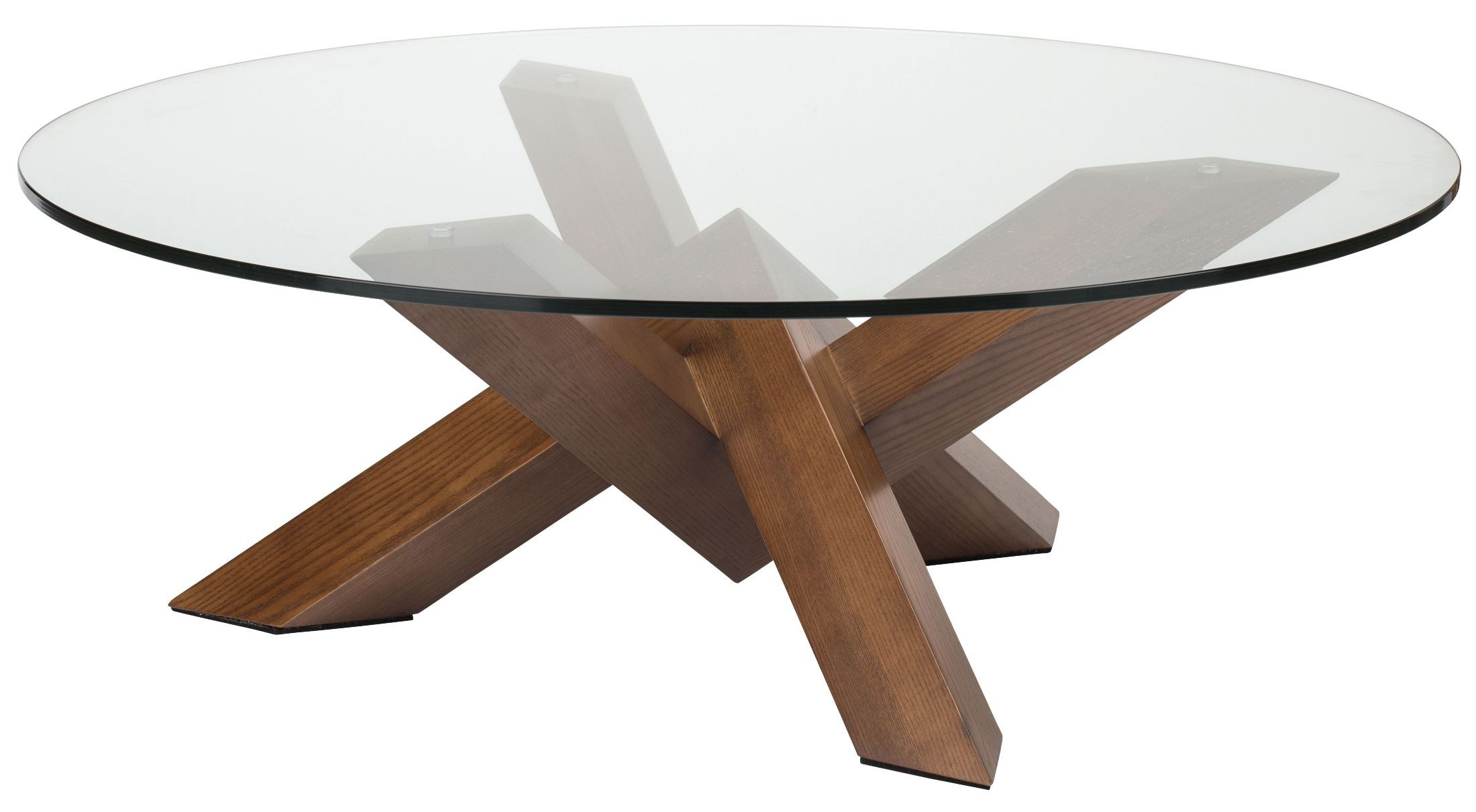 Costa brown clear glass coffee table from nuevo coleman for Clear coffee table