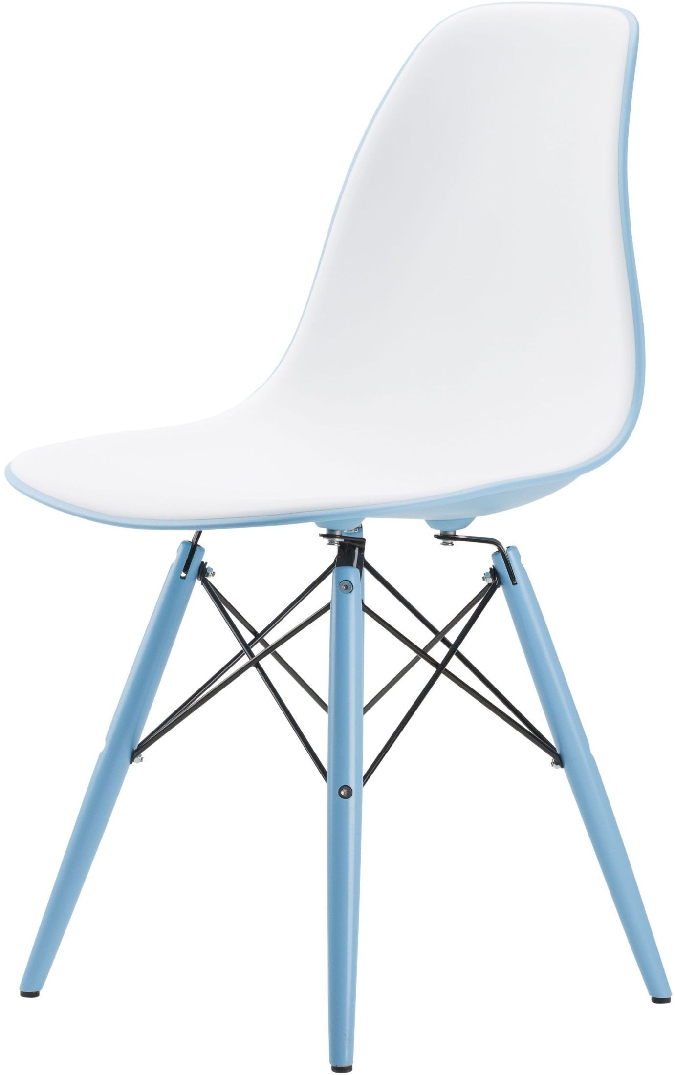 Felicia white and light blue dining chair from nuevo for Blue and white dining chairs