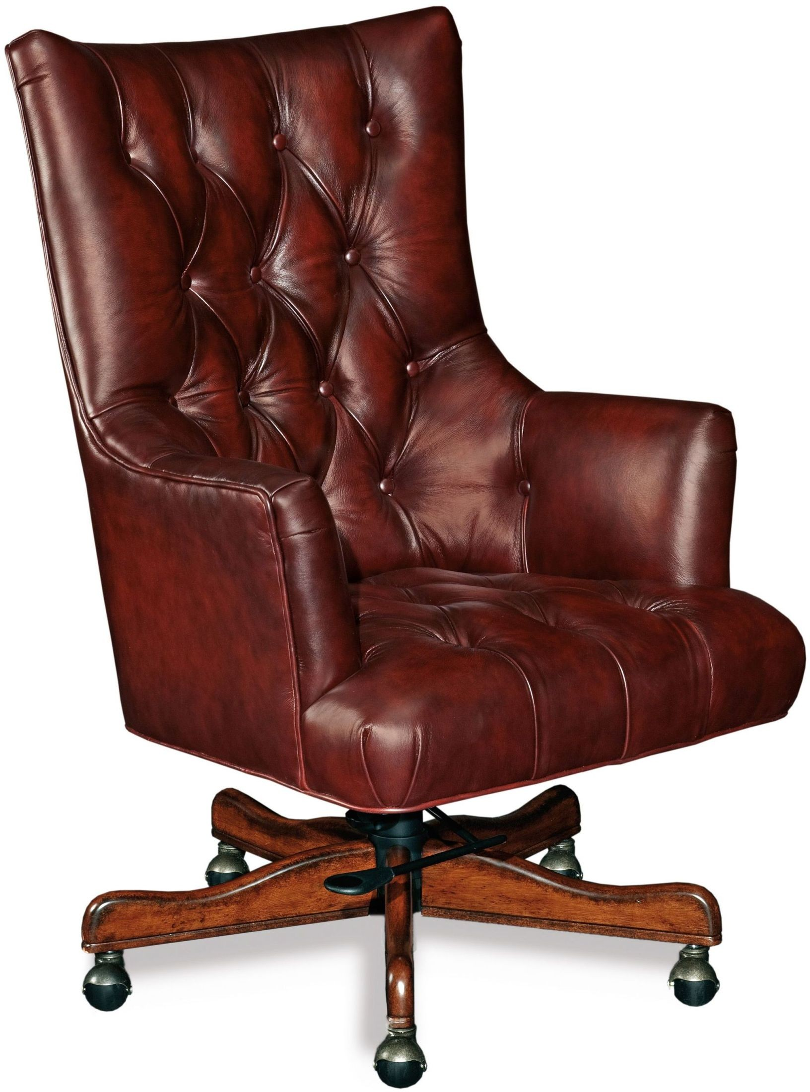 Jenna Red Leather Executive Swivel Tilt Chair from Hooker ...