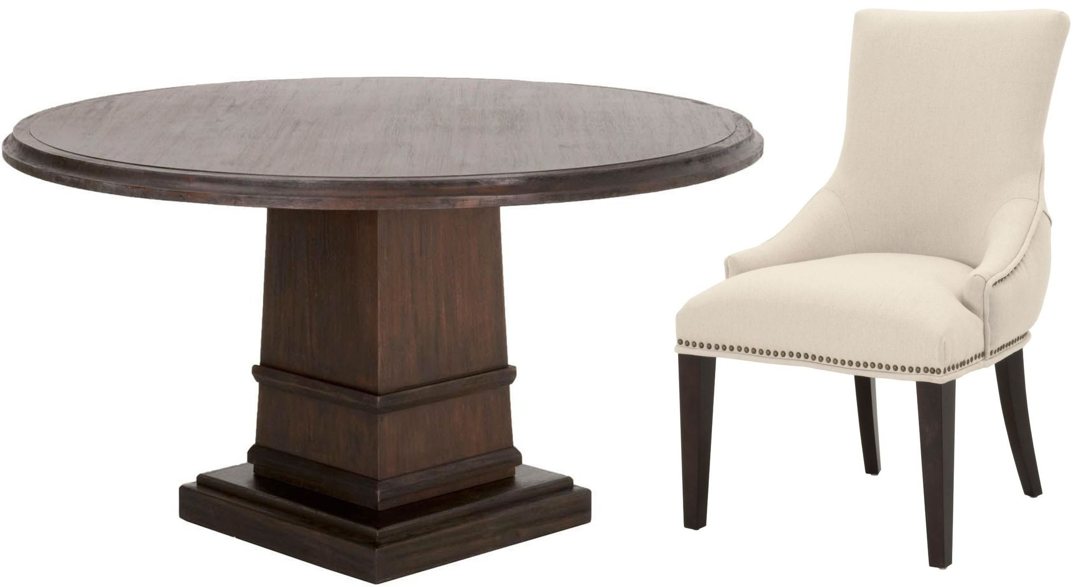 Hudson Rustic Java 54 Round Dining Room Set From Orient Express