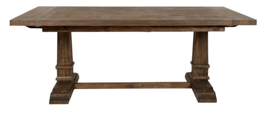 hudson rustic java rectangular extendable trestle dining table from orient express 6015 rjav. Black Bedroom Furniture Sets. Home Design Ideas