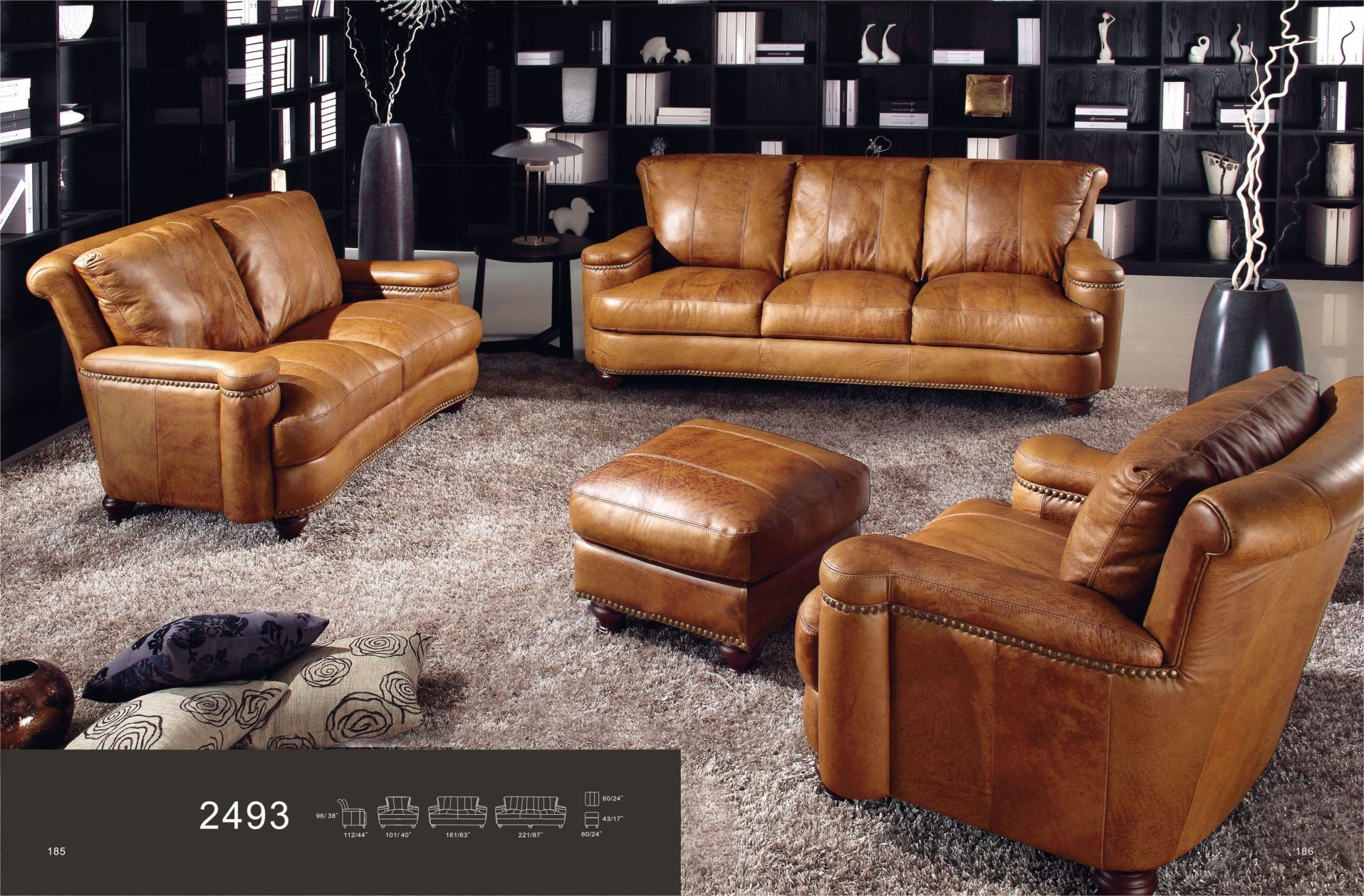 Hutton saddle sofa from luxe leather coleman furniture for Affordable furniture 3 piece sectional in wyoming saddle