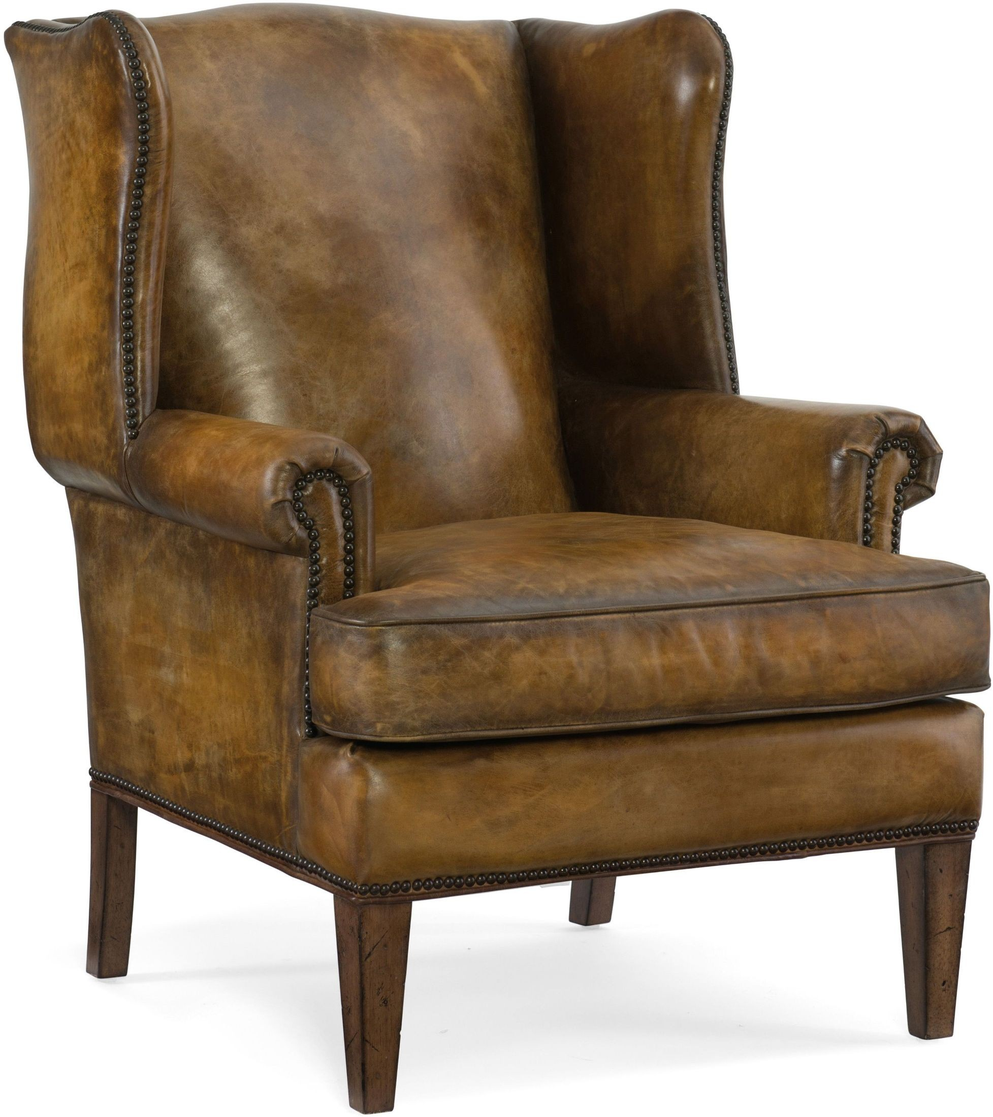 Blakeley Brown Leather Club Chair from Hooker | Coleman ...