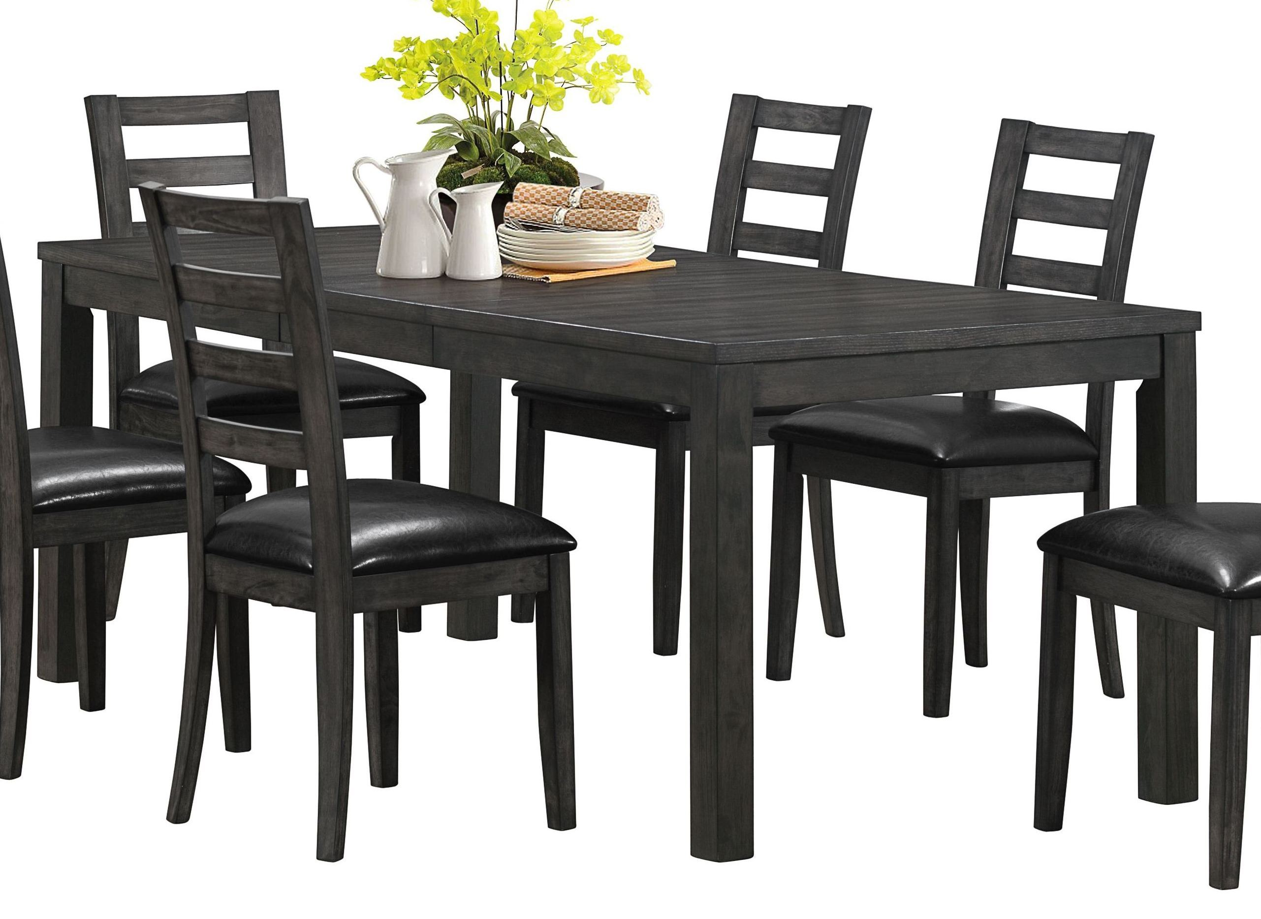 Charcoal Gray Top Dining Table From Monarch 1600