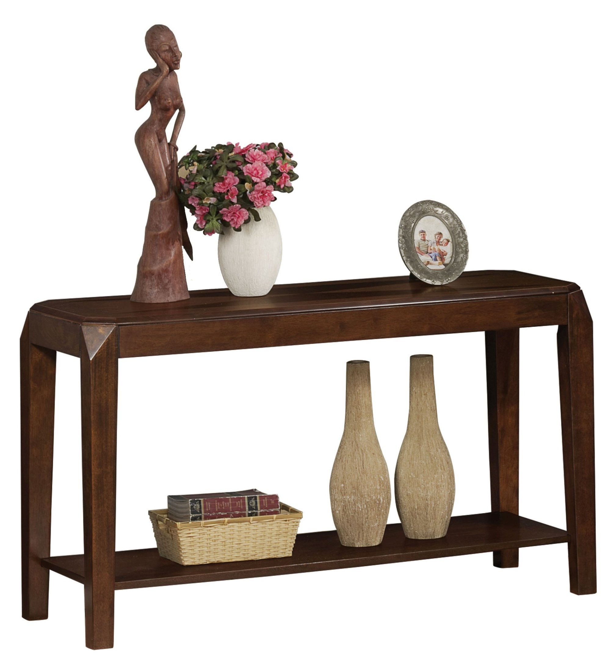 Oak Sofa Table ~ S brown oak sofa table from monarch i
