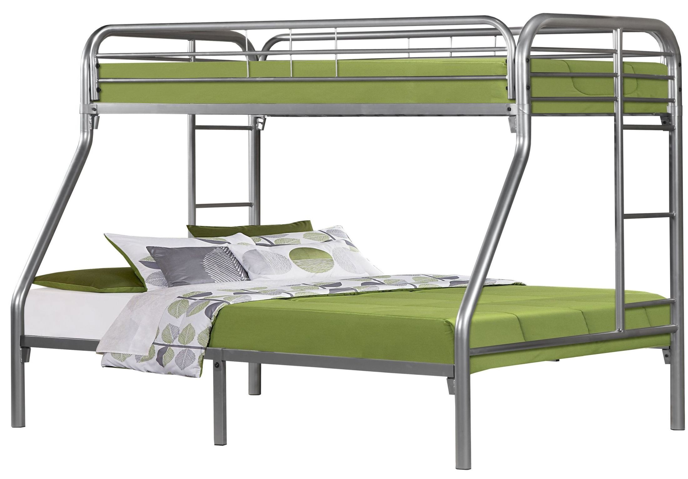 Silver Metal Twin Over Full Bunk Bed From Monarch 2231s