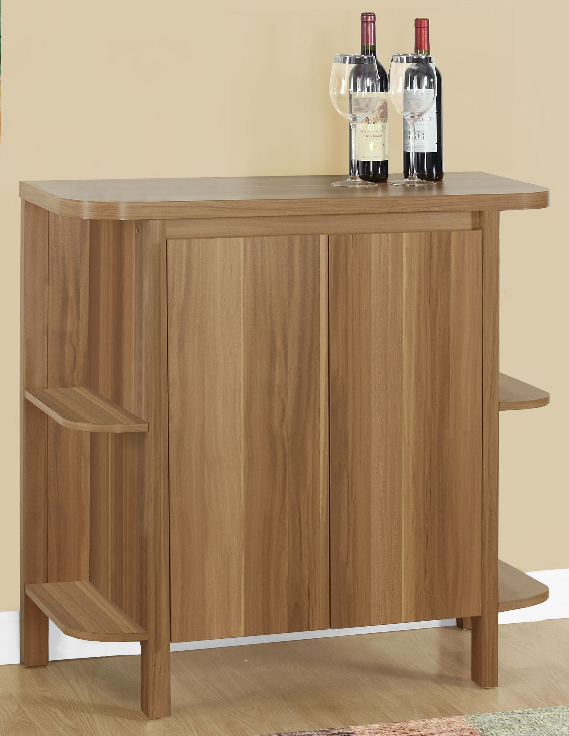 Walnut 36 Home Bar From Monarch Coleman Furniture