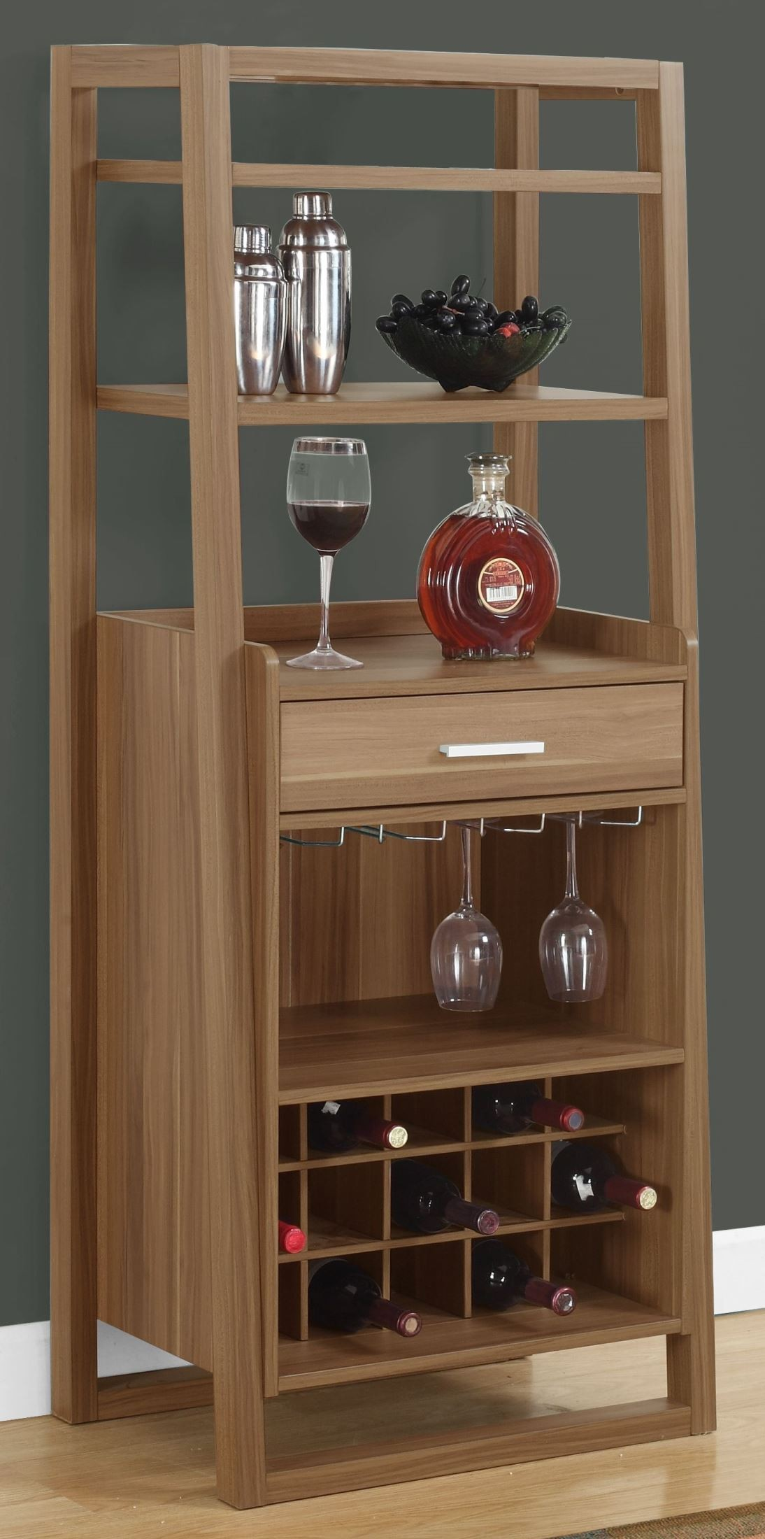 """Walnut Ladder Style 60"""" Home Bar from Monarch"""