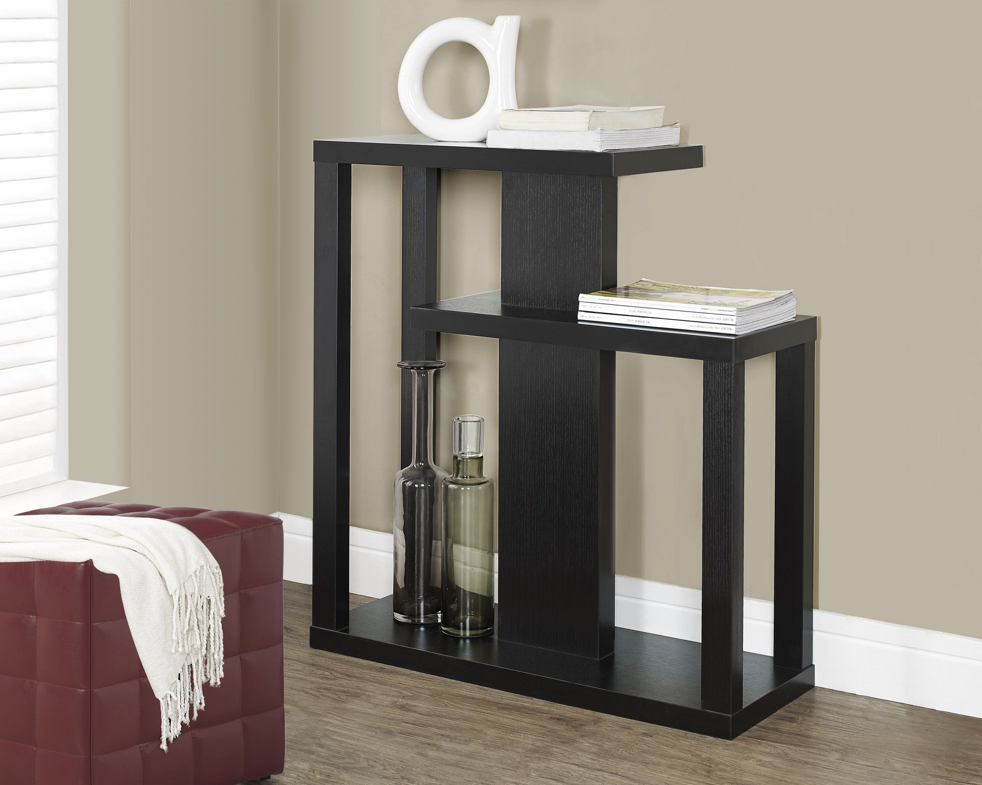 Cappuccino 32 Quot 3 Shelf Hall Console Accent Table From