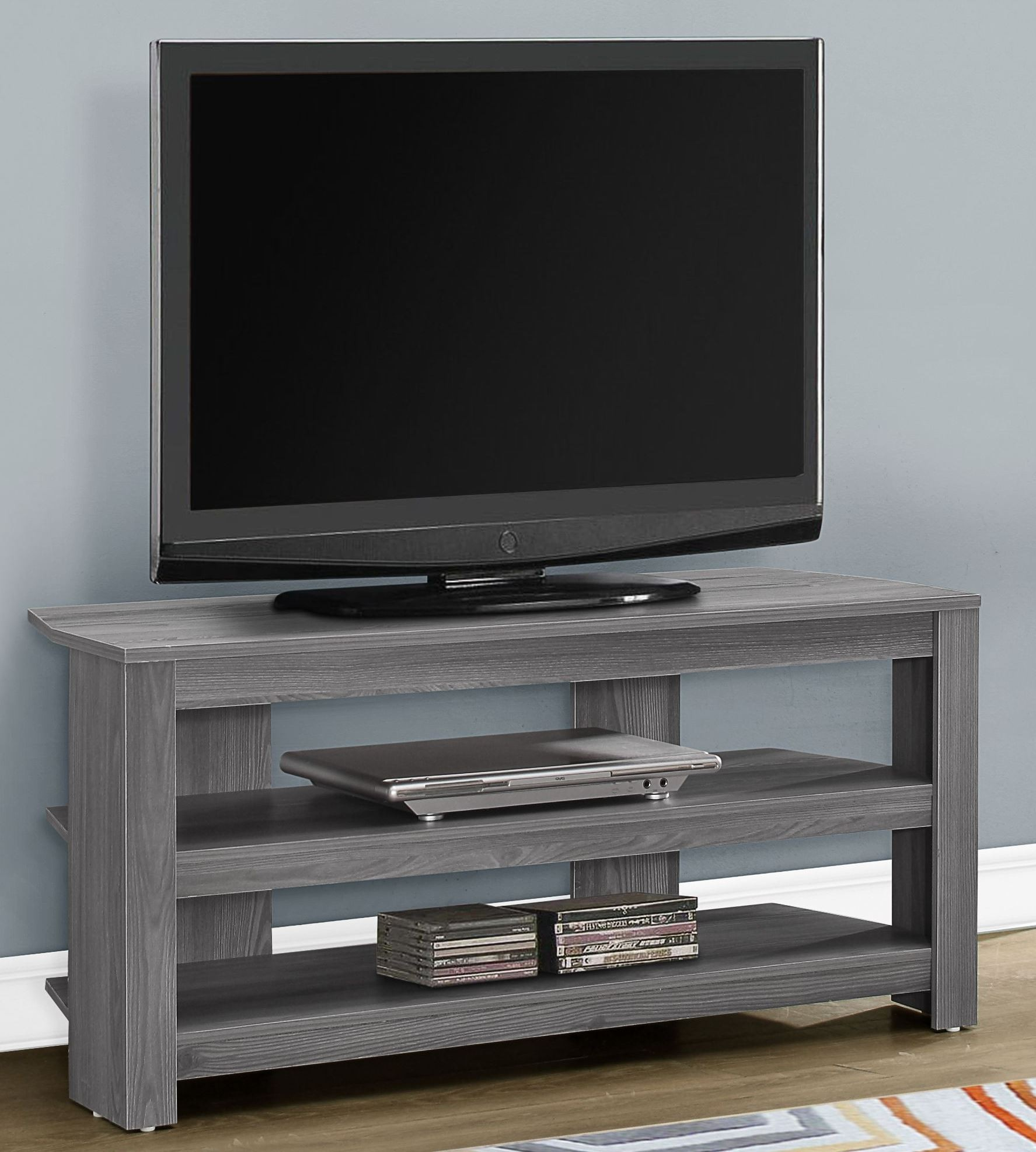 Gray 42 Corner Tv Stand From Monarch Coleman Furniture