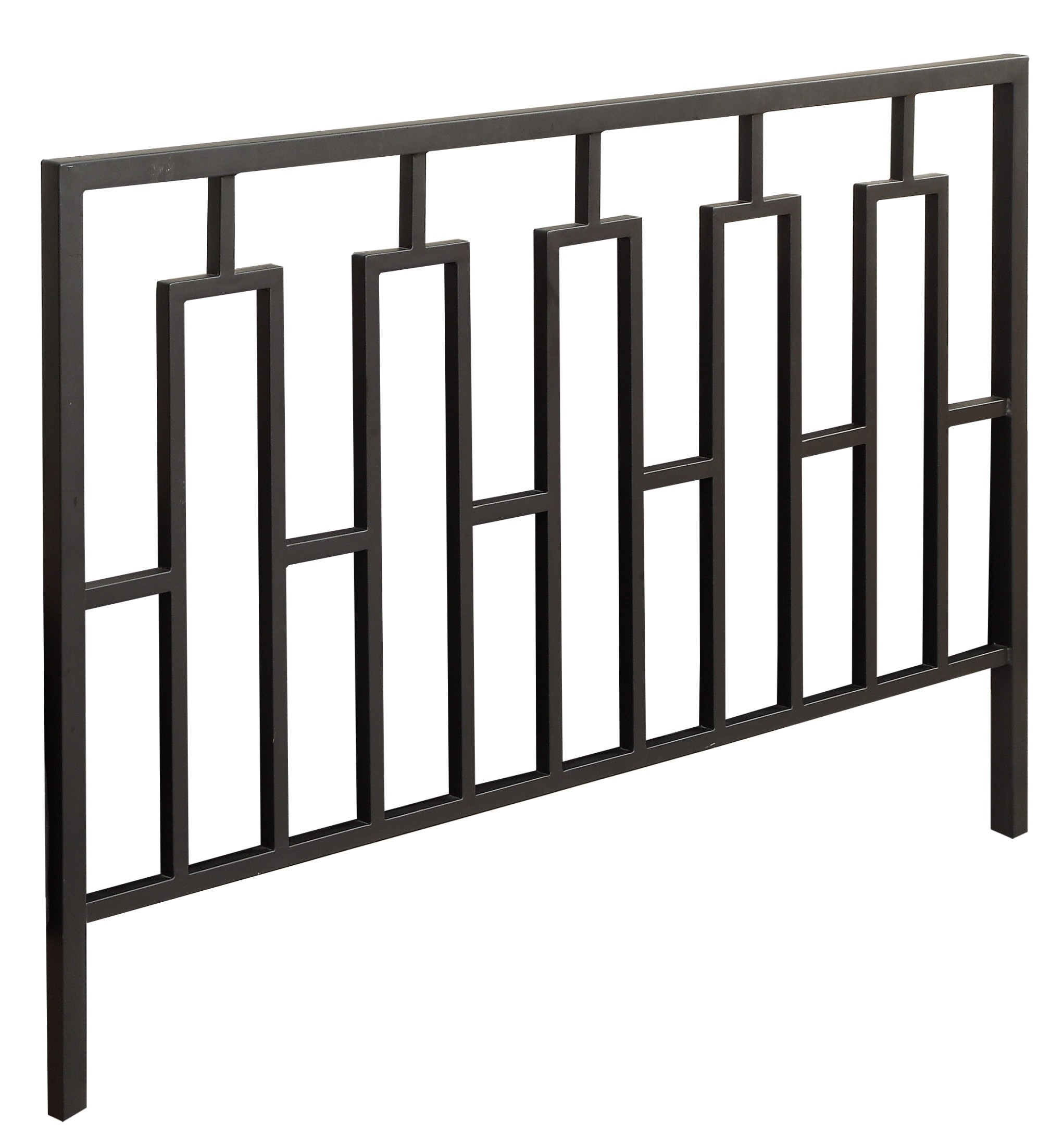 2616Q Satin Black Queen / Full Size Metal Headboard / Footboard from ...