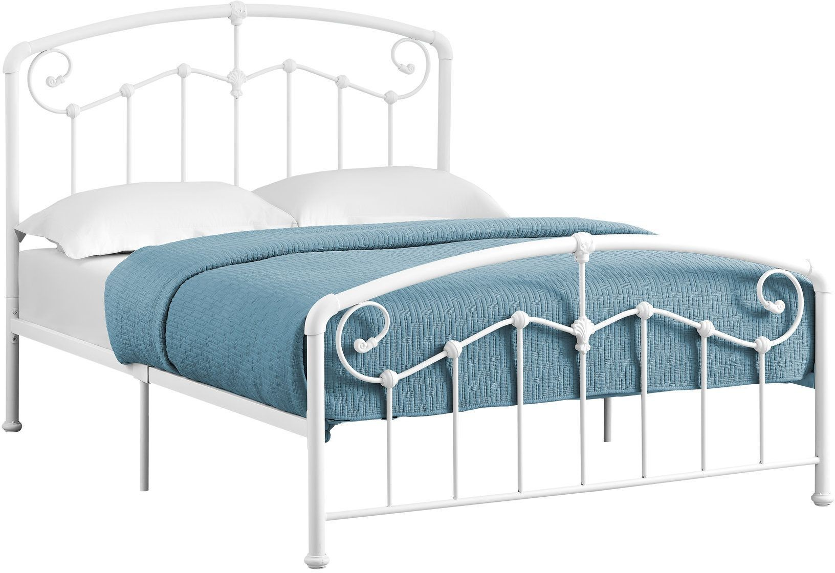 2645f white metal full panel bed from monarch coleman furniture. Black Bedroom Furniture Sets. Home Design Ideas