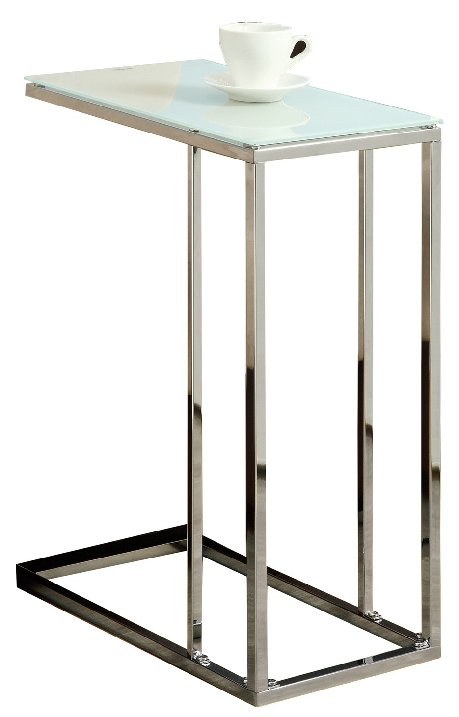 3000 Chrome Metal Accent Table From Monarch I 3000