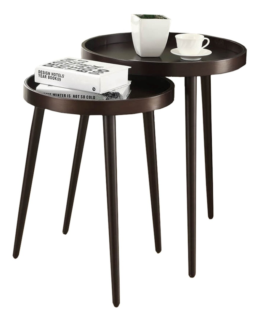 Brass Coffee Table Target: 3080 Cappuccino 2Pcs Nesting Tables From Monarch (I 3080