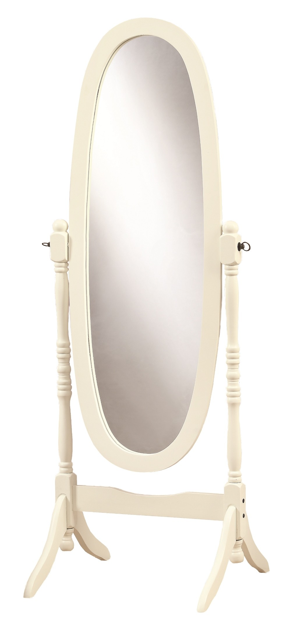 3102 antique white oval cheval mirror from monarch i 3102 for Cheval mirror