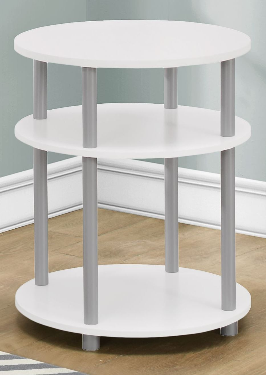 White Round Accent Table From Monarch Coleman Furniture