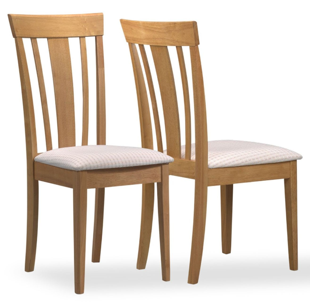 Maple fabric side chair set of from monarch i