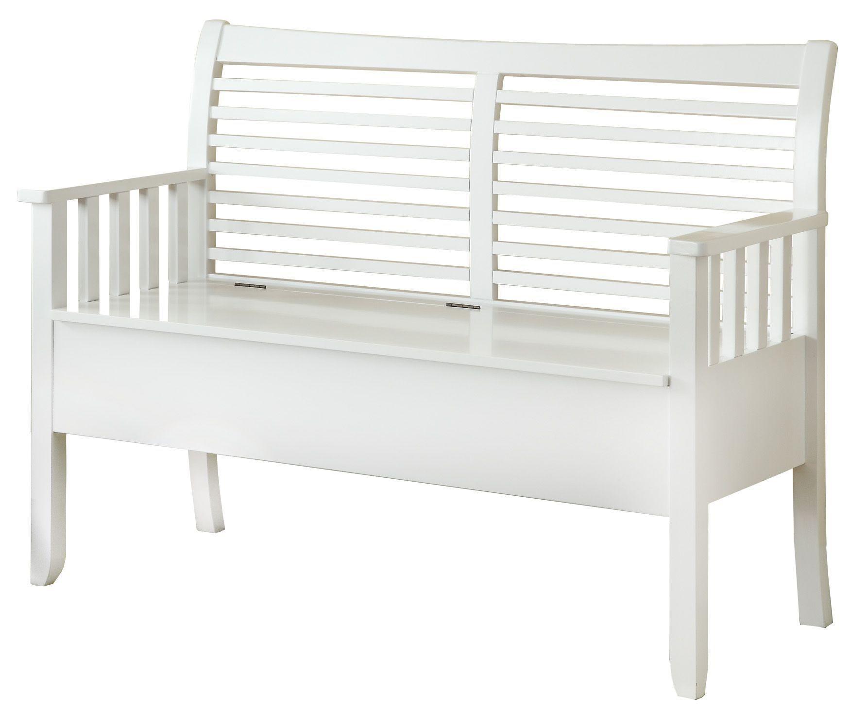 4506 white solid wood storage bench i 4506 monarch. Black Bedroom Furniture Sets. Home Design Ideas