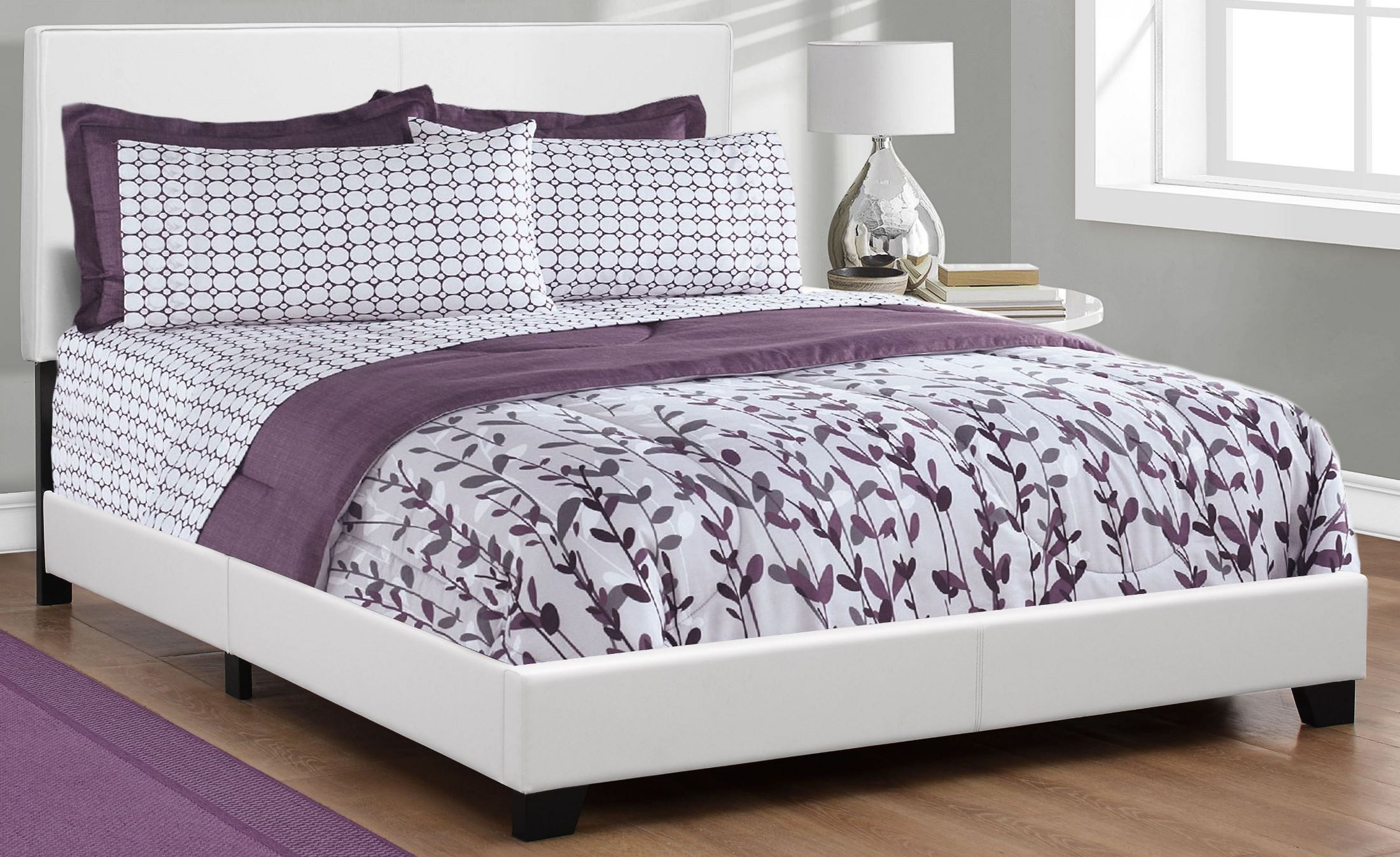 Queen white platform bed from monarch coleman furniture - White queen platform bedroom set ...