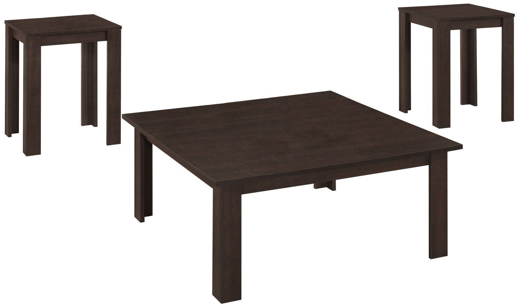 7910p cappuccino 3 piece occasional table set from monarch for Occasional table manufacturers