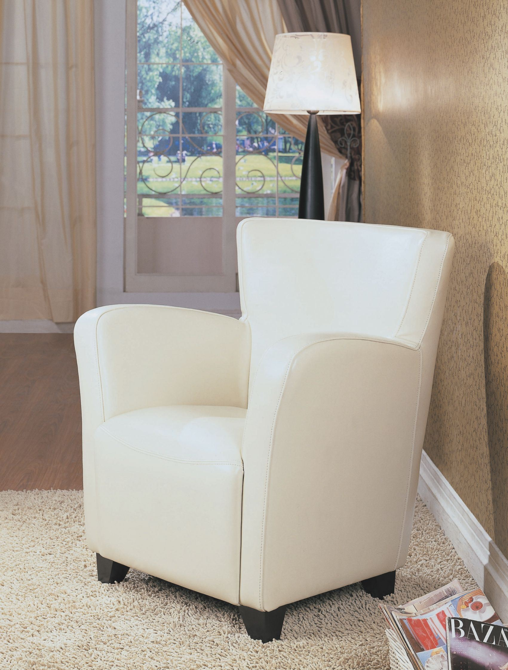 ivory club chair from monarch 8069 coleman furniture. Black Bedroom Furniture Sets. Home Design Ideas