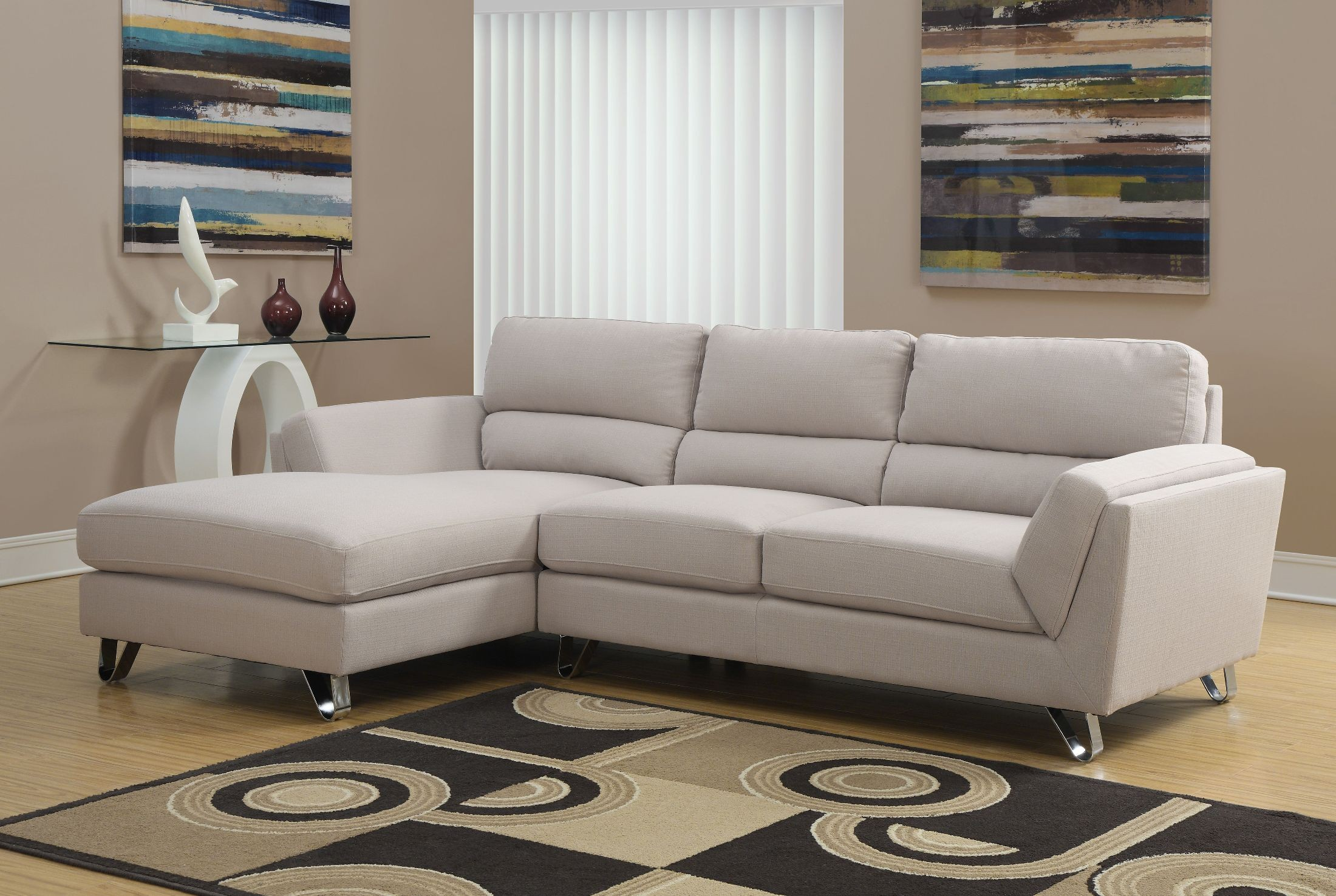 sand linen sofa sectional from monarch 8210sd coleman furniture. Black Bedroom Furniture Sets. Home Design Ideas