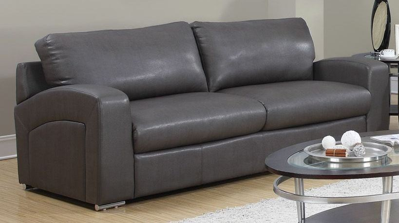 Charcoal Gray Match Sofa 8503GY From Monarch (8503GY