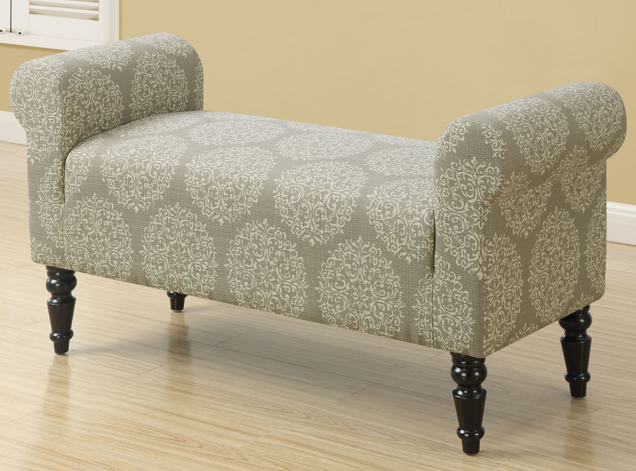 Taupe Fabric Bench From Monarch Coleman Furniture