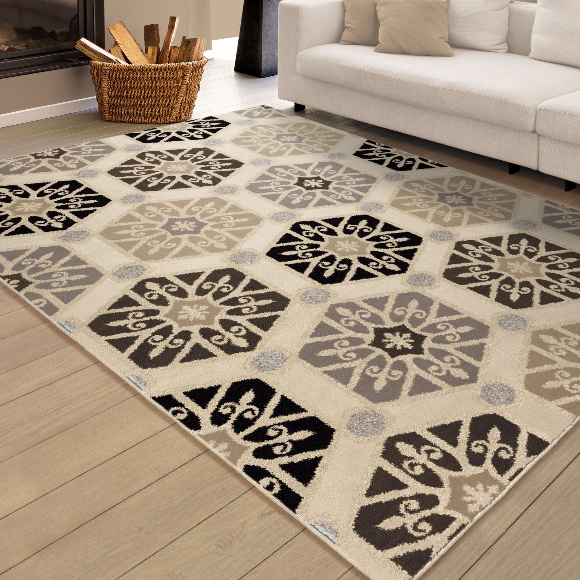Discount 8x11 Area Rugs: Epiphany Soft Medallions Partha Multi Small Area Rug From