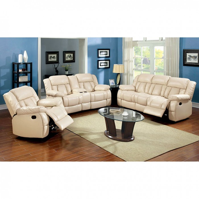Ivory Living Room Furniture: Barbado Ivory Reclining Living Room Set, CM6827-SF