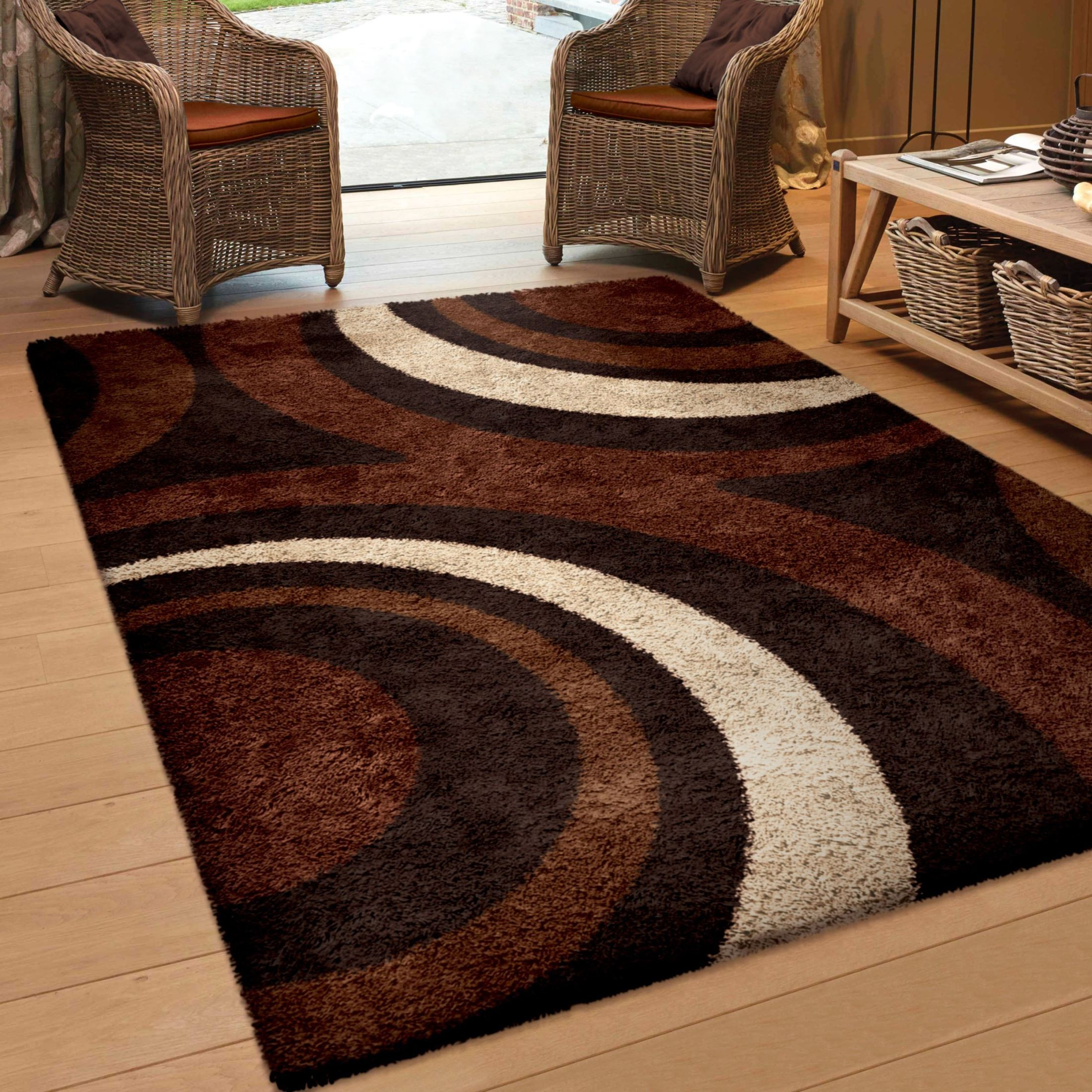 Ring Of Fire Mocha Medium Rug From Orian 3700 5x8