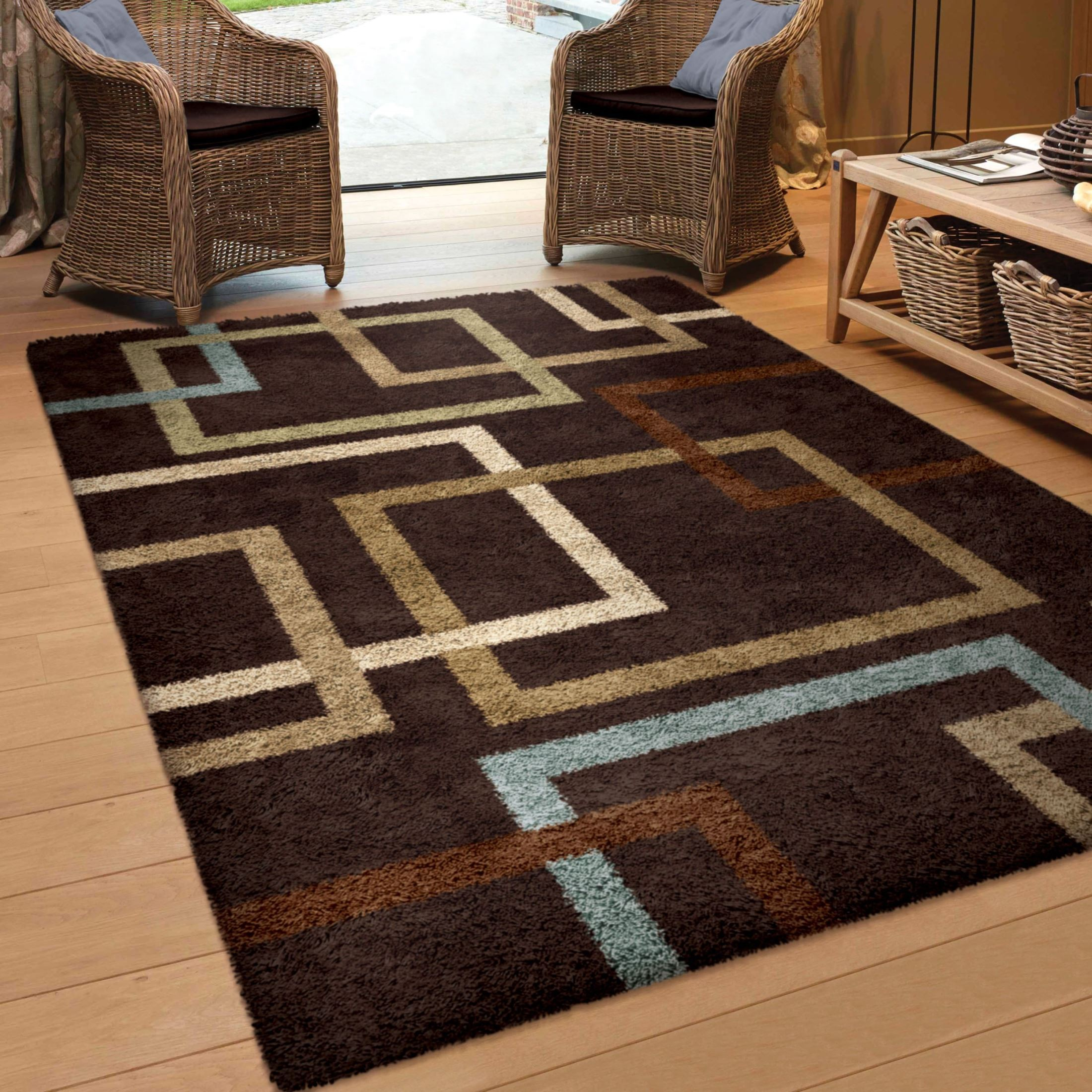 Cuffing Mocha Large Rug From Orian 3705 8x11 Coleman
