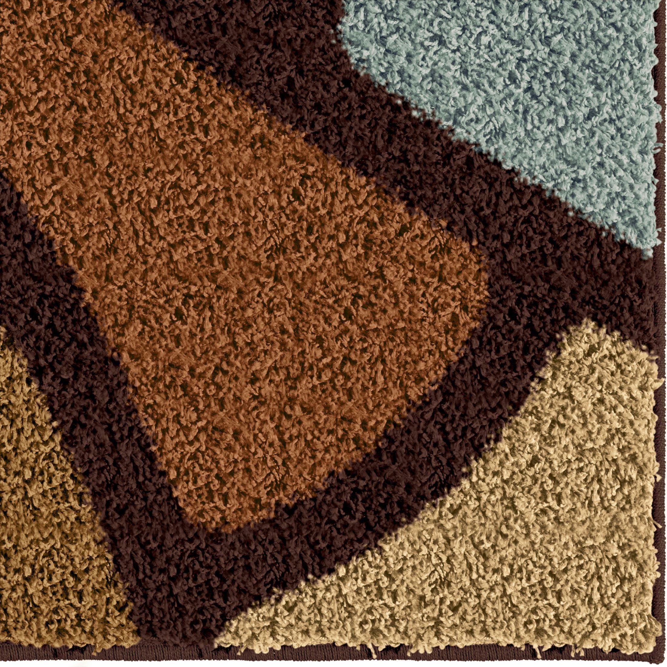 Circle Bloom Multi Brown Medium Rug From Orian 3708 5x8