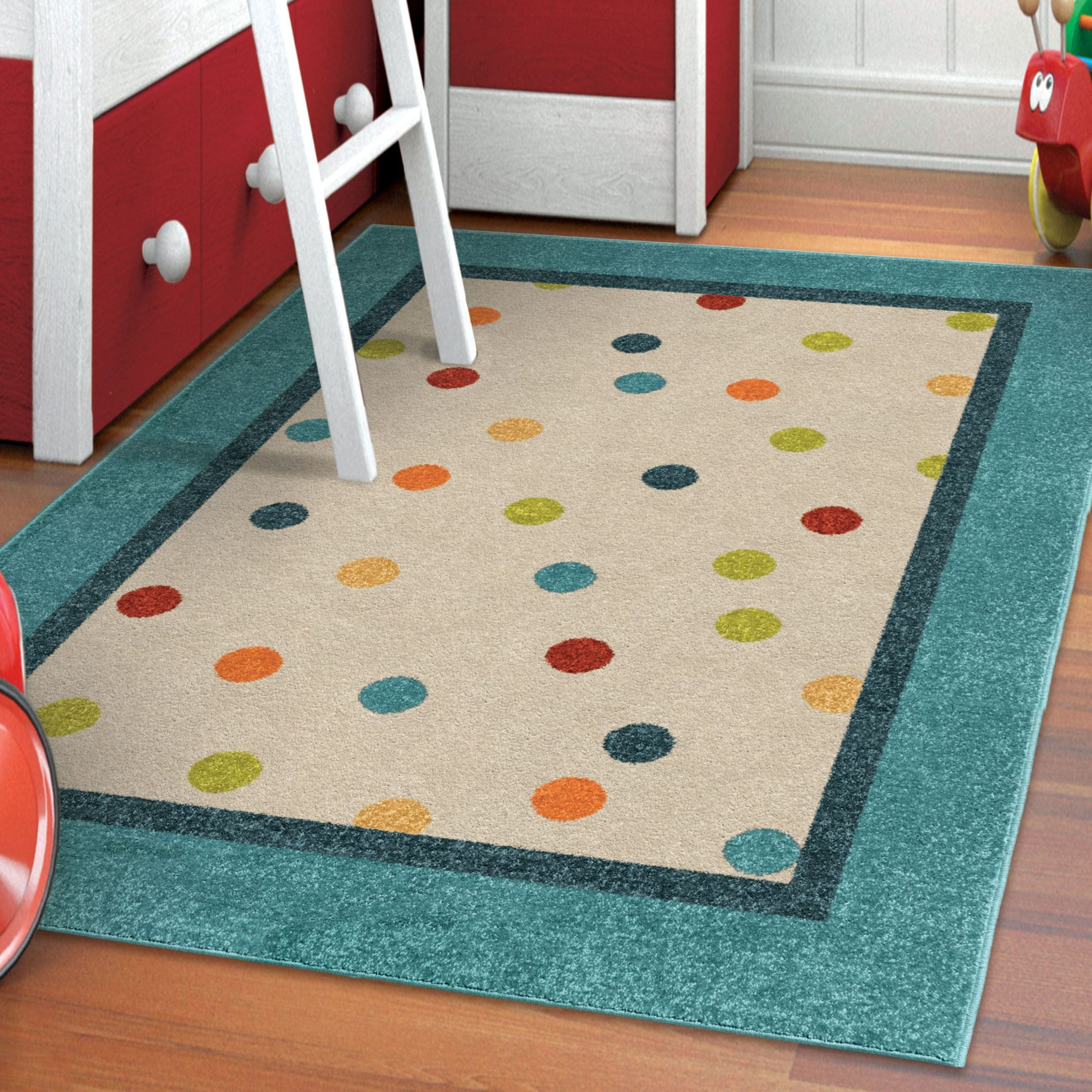 Kids Court Kids Polka Dots Polka Multi Small Area Rug From