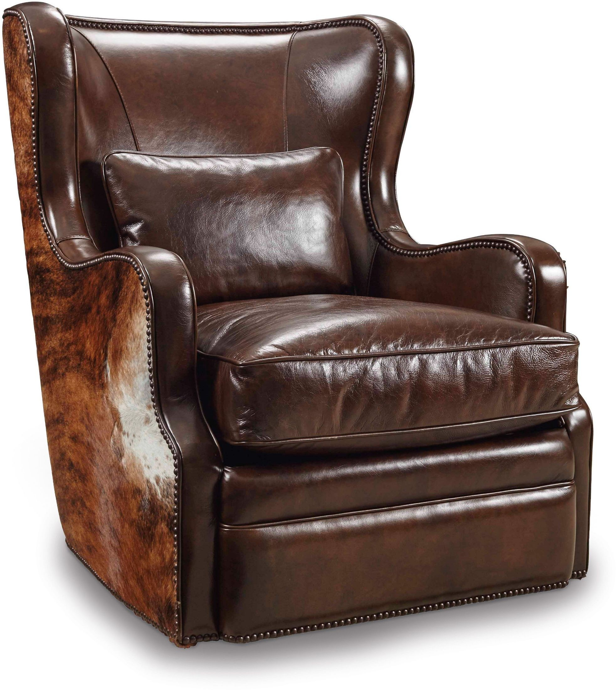 Wellington light brown leather swivel club chair from for Swivel club chair leather