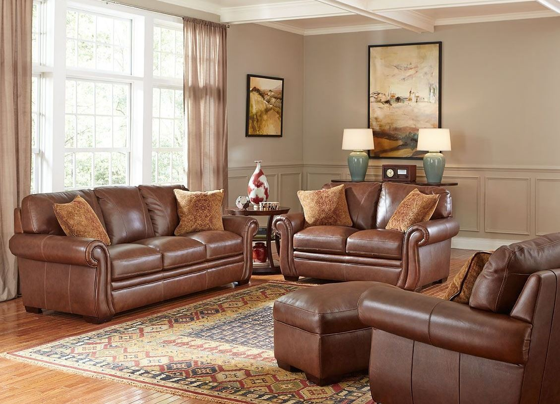 Halston antique espresso living room set from simon li - Antique living room furniture sets ...
