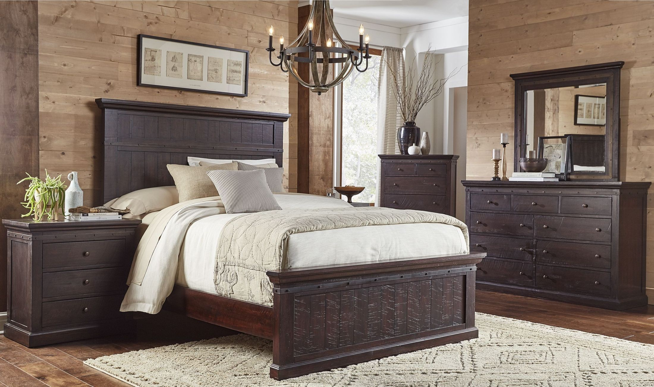 Jackson Dark Mahogany Panel Bedroom Set from A-America ...
