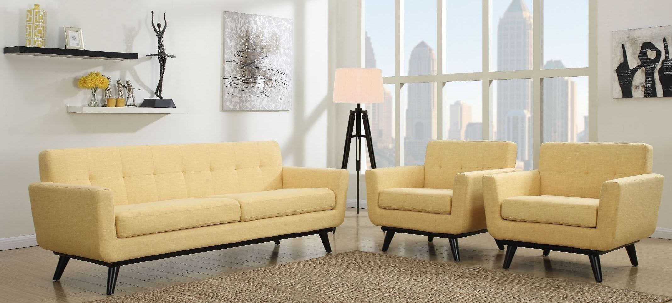 james mustard yellow linen living room set from tov a55 coleman furniture. Black Bedroom Furniture Sets. Home Design Ideas