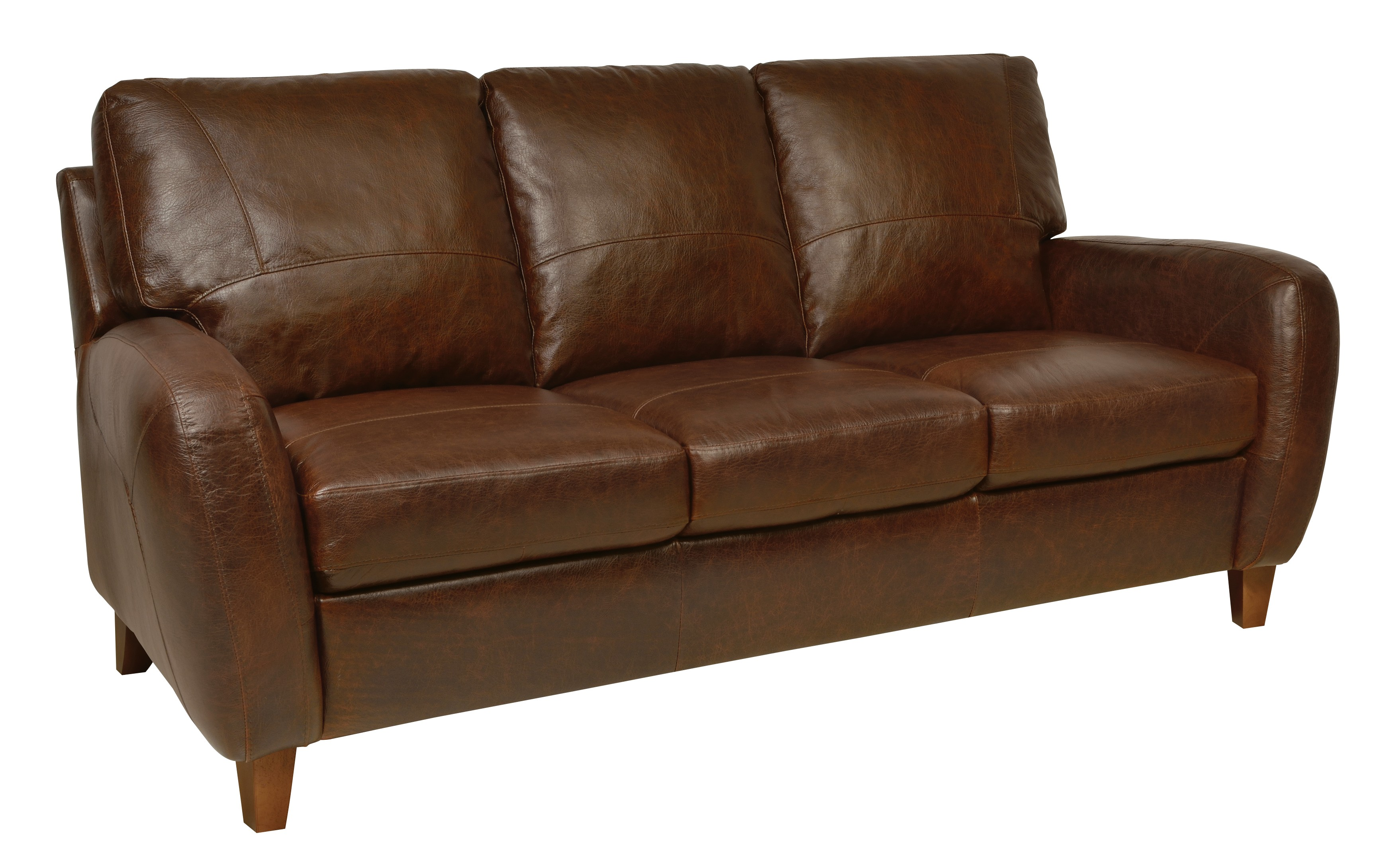 Jennifer italian leather sofa from luke leather coleman for Italian leather sofa