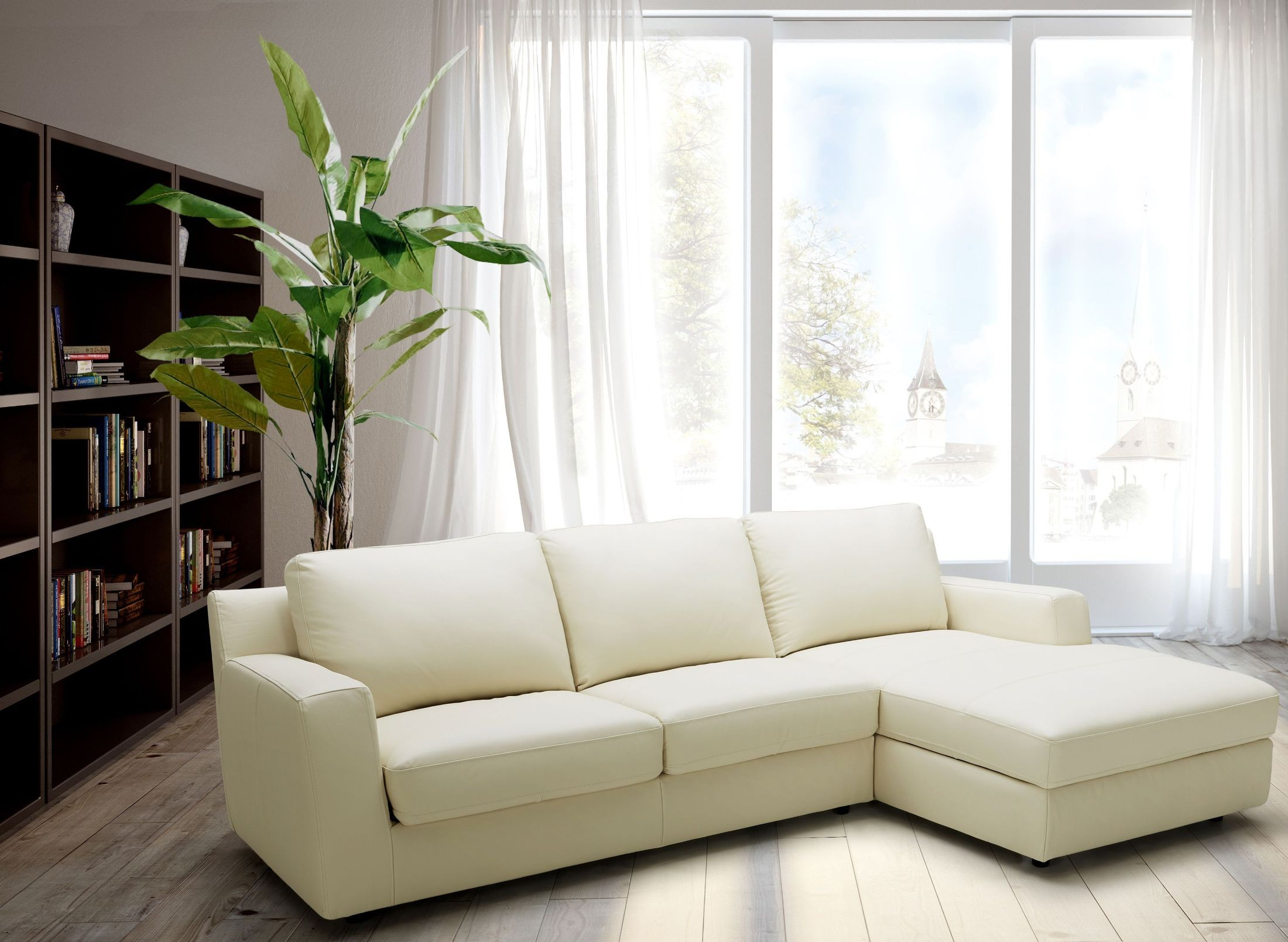 Jenny Beige Leather Raf Sectional From Jnm Coleman Furniture