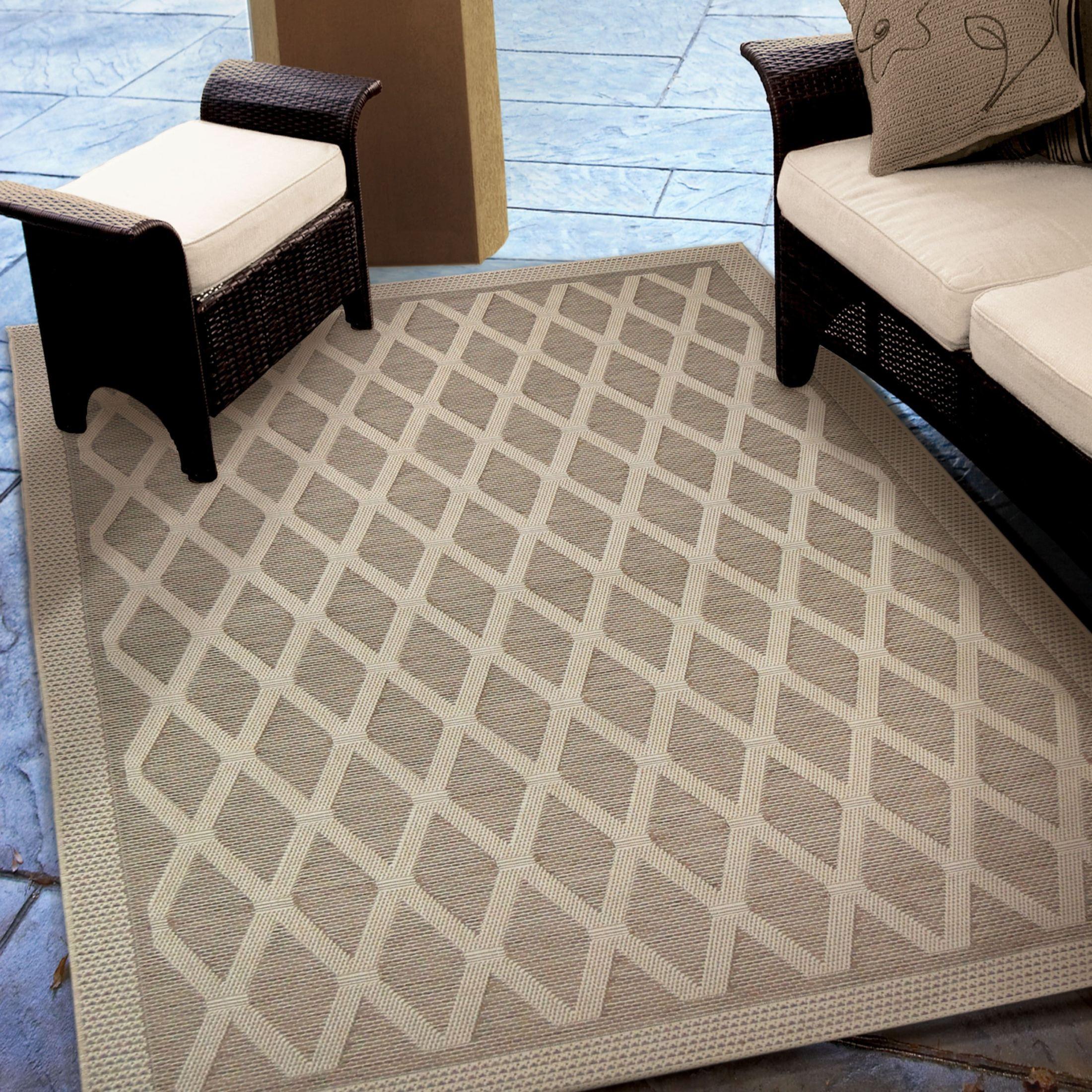 Jersey Home Indoor Outdoor Diamonds Regal Dimension Tan