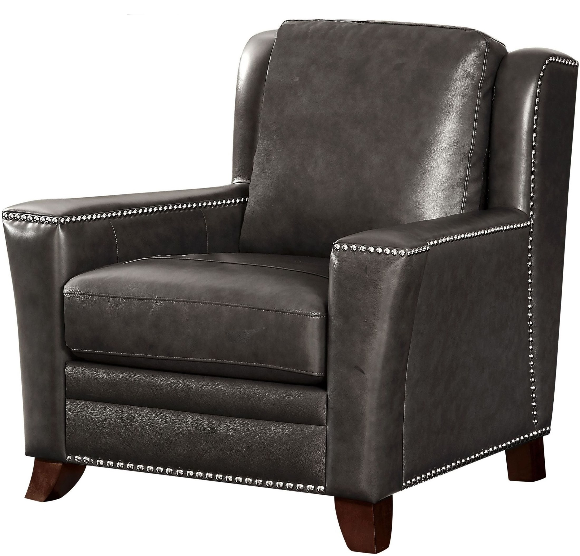 Westport Easton Graystone Leather Chair from Luxe Leather