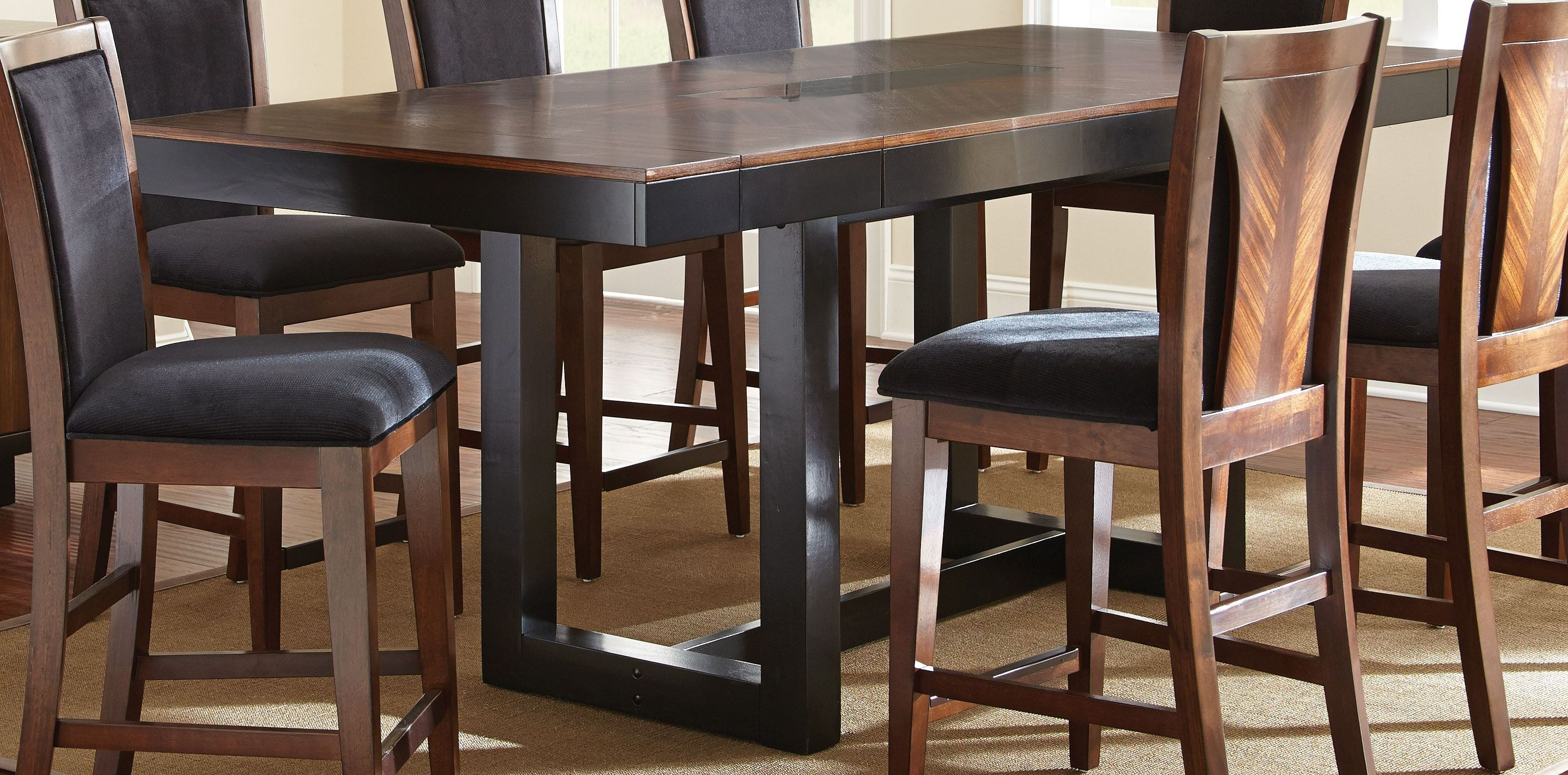 Julian Extendable Rectangular Counter Height Dining Table From Steve Silver
