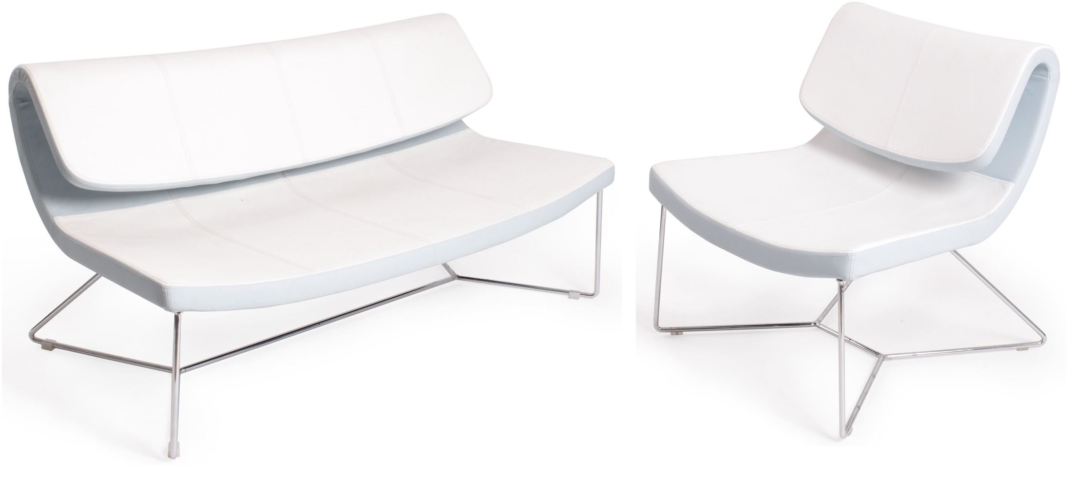 Hollywood white leatherette living room set from j m for J m furniture soho living room collection