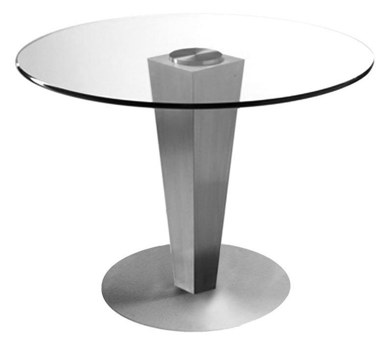 42 round glass dining table 42 quot glass dining table from bellini modern 7358