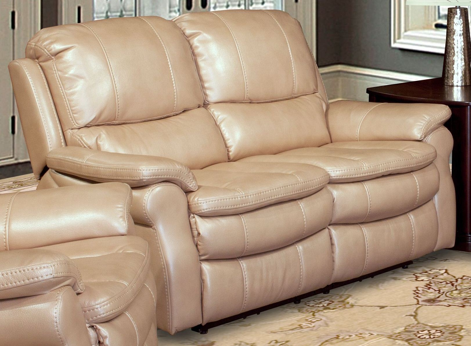 Juno Sand Dual Power Reclining Loveseat From Parker Living